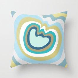 Colca Canyon Stripes Blue Green Throw Pillow