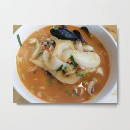Spicy Seafood Noodle Soup Metal Print