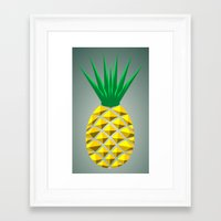 pineapple Framed Art Prints featuring Pineapple by mailboxdisco