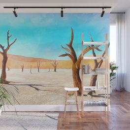 deadvlei desert trees acrstd Wall Mural