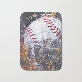 Baseball Art 5 Bath Mat