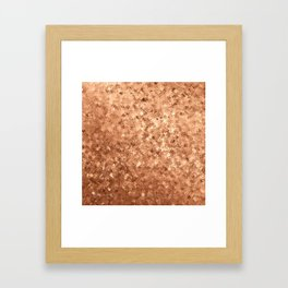 Damasque Gold Framed Art Print