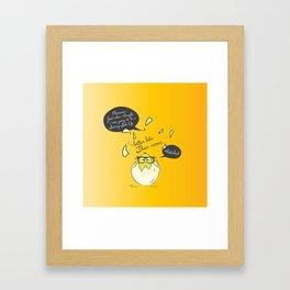 #Hatched Framed Art Print