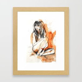 Calin Orange Framed Art Print