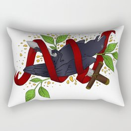 The Raven and the Sword Rectangular Pillow