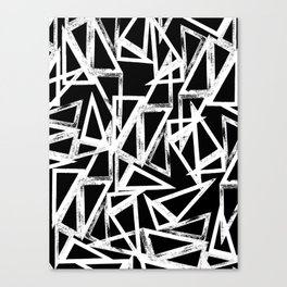 stamp triangle Canvas Print