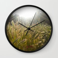 Wheat and poppies Wall Clock
