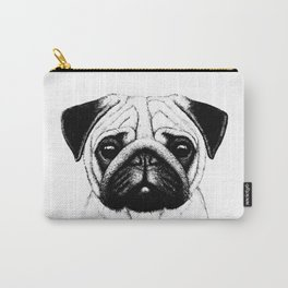 Black White Pug Pencil Sketch Carry-All Pouch
