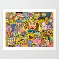 faces Art Prints featuring Faces by Spencer Afonso