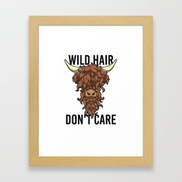 Wild Hair Don't Care Hipster Hairstyles Gift Framed Art Print