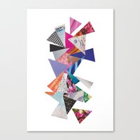 triangles Canvas Prints featuring Triangles by Lydia Coventry