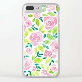 Rose garden Clear iPhone Case