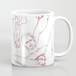 Nude Dude - Red Coffee Mug