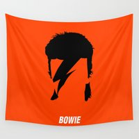 bowie Wall Tapestries featuring BOWIE by eve orea