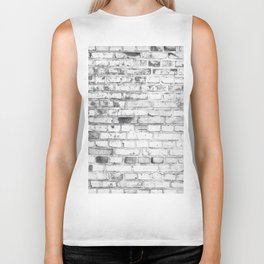 Withe brick wall Biker Tank