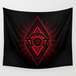 The Eye of Providence is watching you! (Diabolic red Freemason / Illuminati symbolic) Wall Tapestry