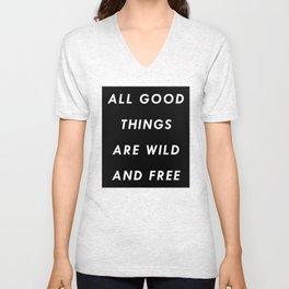 Wild & Free Unisex V-Neck
