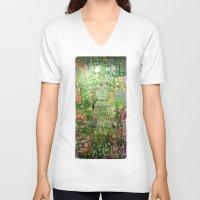 meditation V-neck T-shirts featuring Meditation by Michael Hammond
