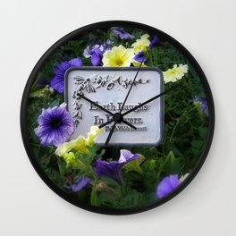 Earth's Laughter Wall Clock