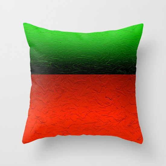Red Green Throw Pillow : Bold Red and Green Abstract Throw Pillow by Saundra Myles Society6