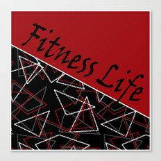 The fitness club . Red black creative pattern . Canvas Print