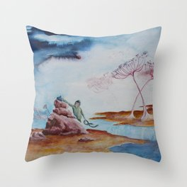 Loneliness I Hide Throw Pillow