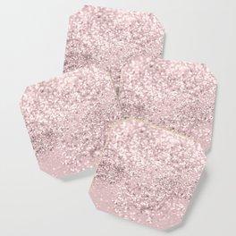Blush Glitter Dream #1 #shiny #decor #art #society6 Coaster