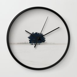 Winter's Trees Wall Clock