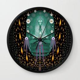 Temple of yoga in light peace and human namaste style Wall Clock