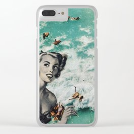 Let's go swimming Clear iPhone Case