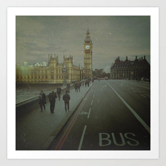 London. Over The Bridge.  Art Print