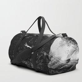 Reflecting Pond (Black & White) Duffle Bag
