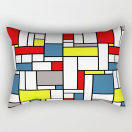 Mondrian style pattern Rectangular Pillow