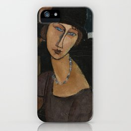 Modigliani - Jeanne Hebuterne With Hat And Necklace iPhone Case
