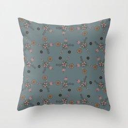 FLOWERING FLOWER Throw Pillow