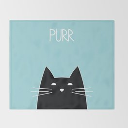 Purr Throw Blanket