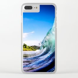 Wave Wall Clear iPhone Case