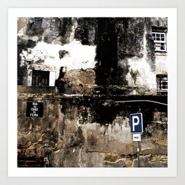 Old Buildings in Lisbon Art Print