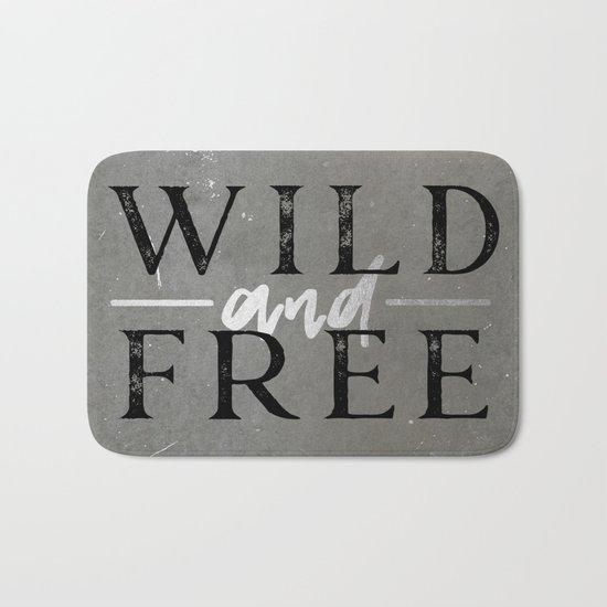 Wild and Free Silver Bath Mat