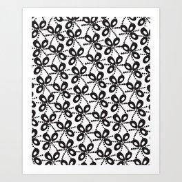 Quirky Black & White Art Print