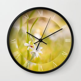 Ornithogalum nutans bloom white Wall Clock