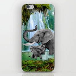 ELEPHANTS OF THE RAIN FOREST iPhone Skin