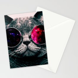 sunglasses cat Stationery Cards