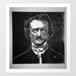 Writer of The Raven: Edgar Allan Poe Art Print