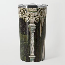 Gothic tracery at Batalha Travel Mug