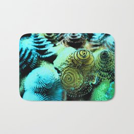 Tiny Marine Trees Bath Mat