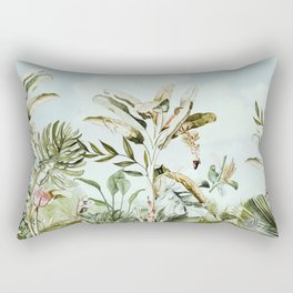 Landscape of banana trees in the jungle Rectangular Pillow