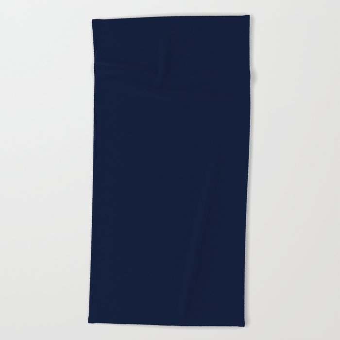 Solid Color Beach Towels.Dark Ink Blue Solid Color Beach Towel By Keksworkroom