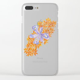 Iris and Butterfly Weeds Clear iPhone Case