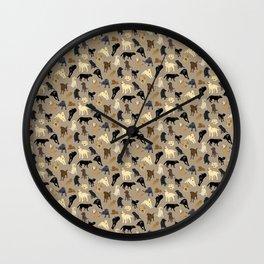 Lotsa Labs on Tan Wall Clock